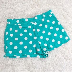 Forever 21 teal white polka dot shorts size small